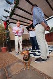 Dog in Gay Wedding Royalty Free Stock Photo