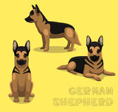 Dog German Shepherd Cartoon Vector Royalty Free Stock Image