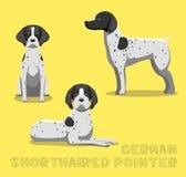 Dog German Shorthaired Pointer Cartoon Vector Illustration Stock Photo