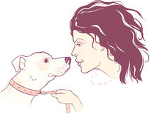 Dog and girl Royalty Free Stock Photography