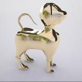 Dog golden. Dog figurine, made of gold. Statue - 3D model Stock Photos