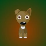 Dog on the gradient background. Puppy on the gradient background. It can be used as icons. Isolated Stock Image