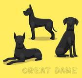 Dog Great Dane Cartoon Vector Illustration Royalty Free Stock Images