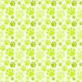 Dog Green Footprints Seamless Pattern Stock Image