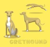 Dog Greyhound Cartoon Vector Illustration Royalty Free Stock Images