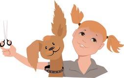 Dog groomer girl Royalty Free Stock Photos