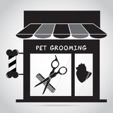 Dog grooming salon icon. Pet beauty salon logo illustration. Dog grooming salon icon. Pet beauty salon shop vector illustration royalty free illustration