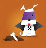 Dog in a Halloween Costume. A cartoon of a cute dog dressed in a Halloween Costume Stock Photos