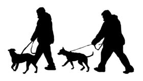dog handler. dog policeman royalty free illustration