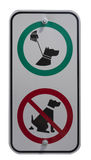 Dog handling signs Stock Images
