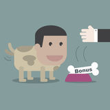 The dog happy with bone in business concept Royalty Free Stock Photo