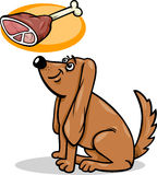 Dog and haunch cartoon illustration Royalty Free Stock Photos