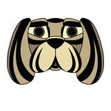 Dog head face mask symmetrical Stock Photography