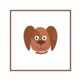 Dog head illustration Domestic animal cartoon isolated icon Royalty Free Stock Photography