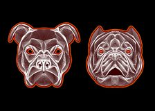 Dog head linear logo. Image for design covers,greeting cards,postcards,flyers,logos Stock Images