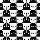 Dog head seamless pattern. Royalty Free Stock Photography