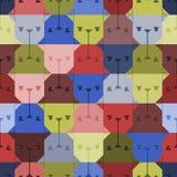 Dog head seamless pattern. Stock Photo
