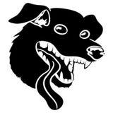 Dog head sign. Royalty Free Stock Photos