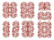 Dog head in tribal style - Celtic patterns Royalty Free Stock Photos