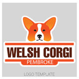 Dog head of Welsh Corgi breed. Colorful vector drawing of dog head of Welsh Corgi breed Stock Images