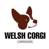 Dog head of Welsh Corgi breed. Sign template with stylized vector drawing of head of dog Welsh Corgi breed Royalty Free Stock Image