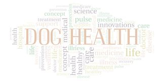 Dog Health word cloud. Wordcloud made with text only royalty free illustration