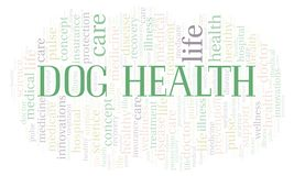Dog Health word cloud. Wordcloud made with text only stock illustration