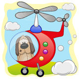 Dog in helicopter Royalty Free Stock Photos
