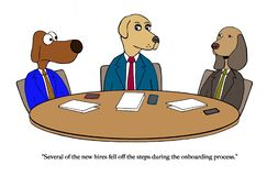 Dog hire is onboard off royalty free illustration