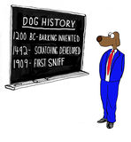 Dog History Royalty Free Stock Photos