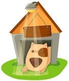Dog house Stock Image