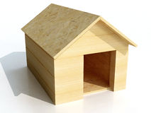 Dog house. Hi res rendering of dog house Stock Image