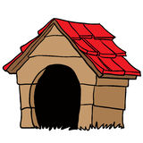Dog house. Cartoon  on white Stock Photography