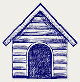 Dog House. Doodle style Stock Photo