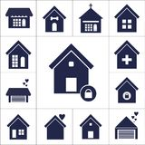 Dog house flat icon stock illustration
