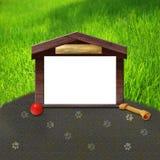 Dog house frame design Stock Image