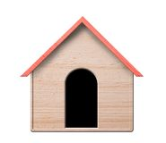 Dog house, isolated. Stock Photos