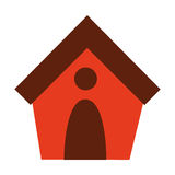 dog house isolated icon design Royalty Free Stock Photo