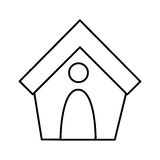 dog house isolated icon Stock Photos