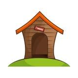 Dog house isolated icon. Illustration design Royalty Free Stock Images