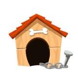 Dog house isolated Royalty Free Stock Photo