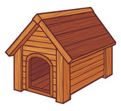 Dog house. Vector dog house, dog house symbol Royalty Free Stock Images