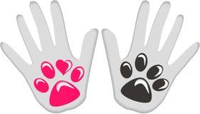 Dog Human love friendship Stock Image