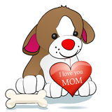 Dog and I love you mom Royalty Free Stock Photos