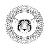 Dog icon. Animal and Ornamental predator design. Vector graphic. Animal and Ornamental predator concept represented by dog  icon. Draw illustration. Black and Stock Photo