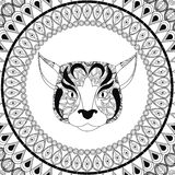 Dog icon. Animal and Ornamental predator design. Vector graphic. Animal and Ornamental predator concept represented by dog  icon. Draw illustration. Black and Royalty Free Stock Photo