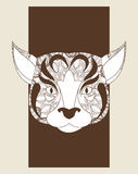 Dog icon. Animal and Ornamental predator design. Vector graphic Royalty Free Stock Photography