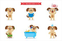 Dog icon character vector illustration