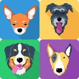 Dog icon flat design Royalty Free Stock Photos