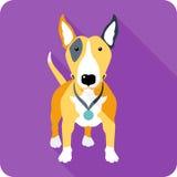 Dog icon flat design Royalty Free Stock Photography